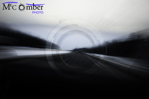 Speeding winter highway