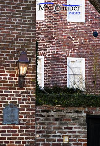 Charleston, SC Brick walls and windows