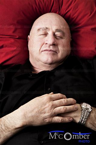 Senior man resting in peace