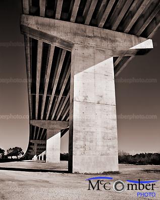 Stock photo: Highway ramp from below