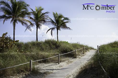 Stock photo: Miami beach pathway