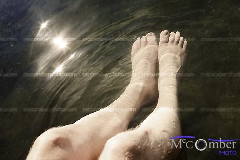 Stock photo: feet in water