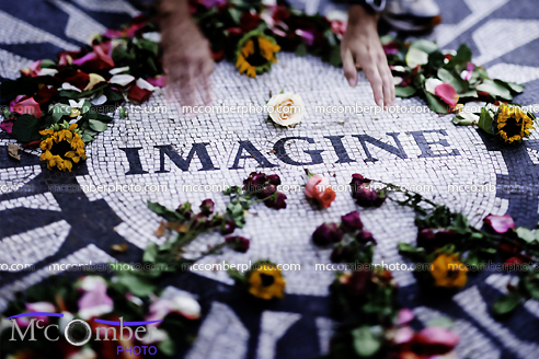 Imagine Mosaic in New York's Central Park