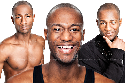 New Stock Photo Gallery: Young Muscular African American Man
