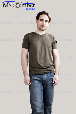 Stock photo: Man with casual clothes and dreamy eyes