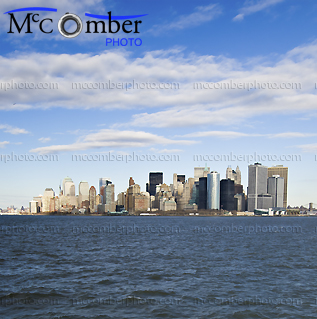 Stock Photo: Manhattan skyline from the ferry