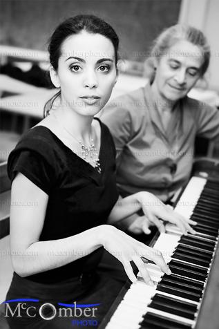 Stock Photo: The Piano Lesson