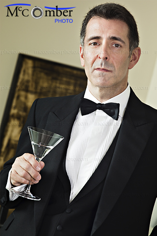 Featured Stock Photograph - Gentleman in Tuxedo with Serious expression