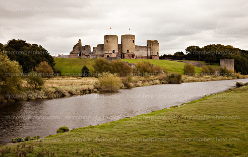 Rhuddlan Castle on a moody September afternoon
