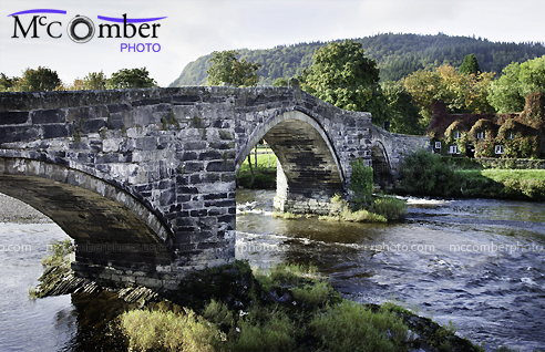 Stock Photograph - Old Fawr Stone Bridge HDR