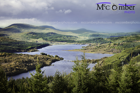 Stock Photograph - Loch Garry under an angry sky