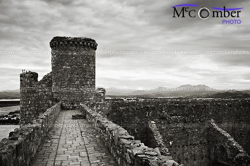 Stock Photograph - Elevated Walkway at Harlech Castle