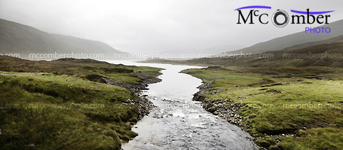 Stock Photograph - Misty Valley in Scotland