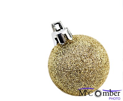 Stock Photograph - Golden Glitter Christmas Bauble