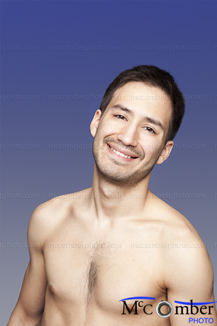 Stock Photograph: Sexy Latino Man with Ecstatic Smile