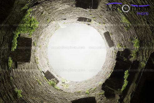 Stock Photograph - Down the well looking up