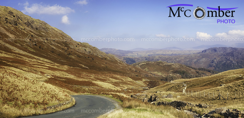 Stock Photo - Cumbrian mountains panorama