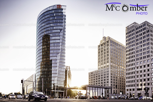 Editorial Stock Photo - Potsdamer Platz at Sunset