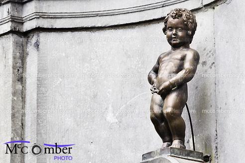 Stock Photograph - Brussels MannekenPis Horizontal