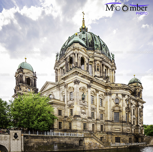 Stock Photograph - The Berlin Cathedral from the Spree banks