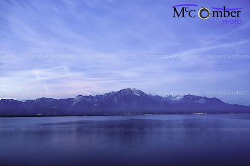 Stock Photograph - Switzerland's Lake Geneva and the Alps