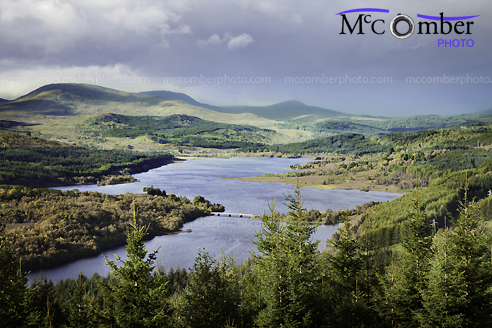 Stock Photo - Loch Garry in turbulent weather