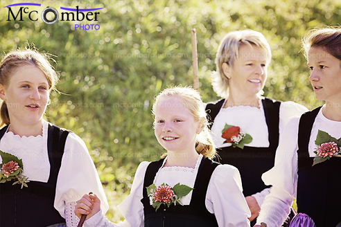 Stock Photo - Candid shot of a Swiss Family Ready for the Fall Festival