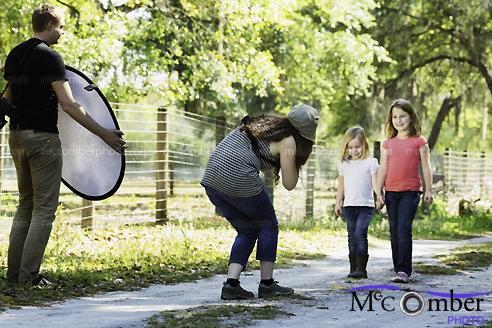Stock Photo: Children photographer at work outdoors