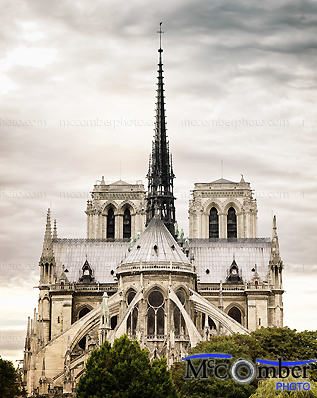 Stock Image: Rear View of Notre-Dame-de-Paris