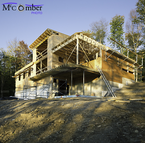 House on a hill residential construction project