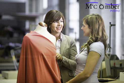 Stock Image #44: Fashion designer explaining draping technique