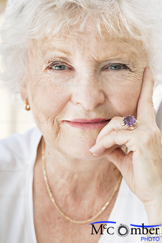 Stock Image: Confident and smart senior woman