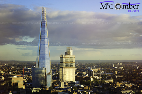 Stock Image: Aerial view of the London Shard