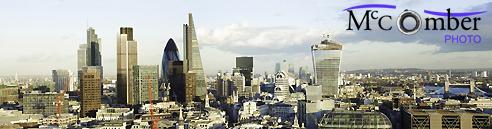 Stock Image: Panoramic London UK view