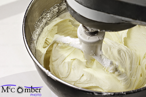 Stock Image: Mixing Cream Cheese Cake Icing