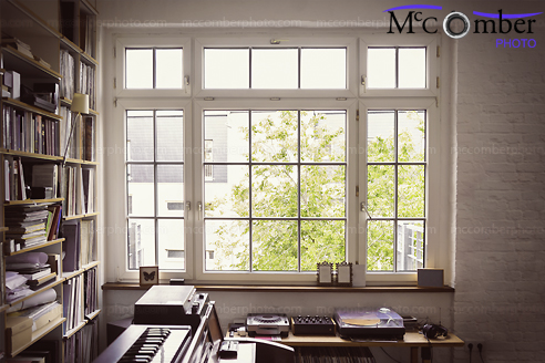 Stock Image: The music room window