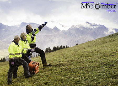 Stock Image: Swiss Alpine medic rescue team