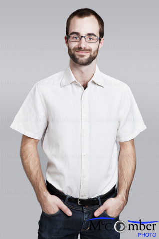 Stock Image: Contemporary worker with hands in pockets